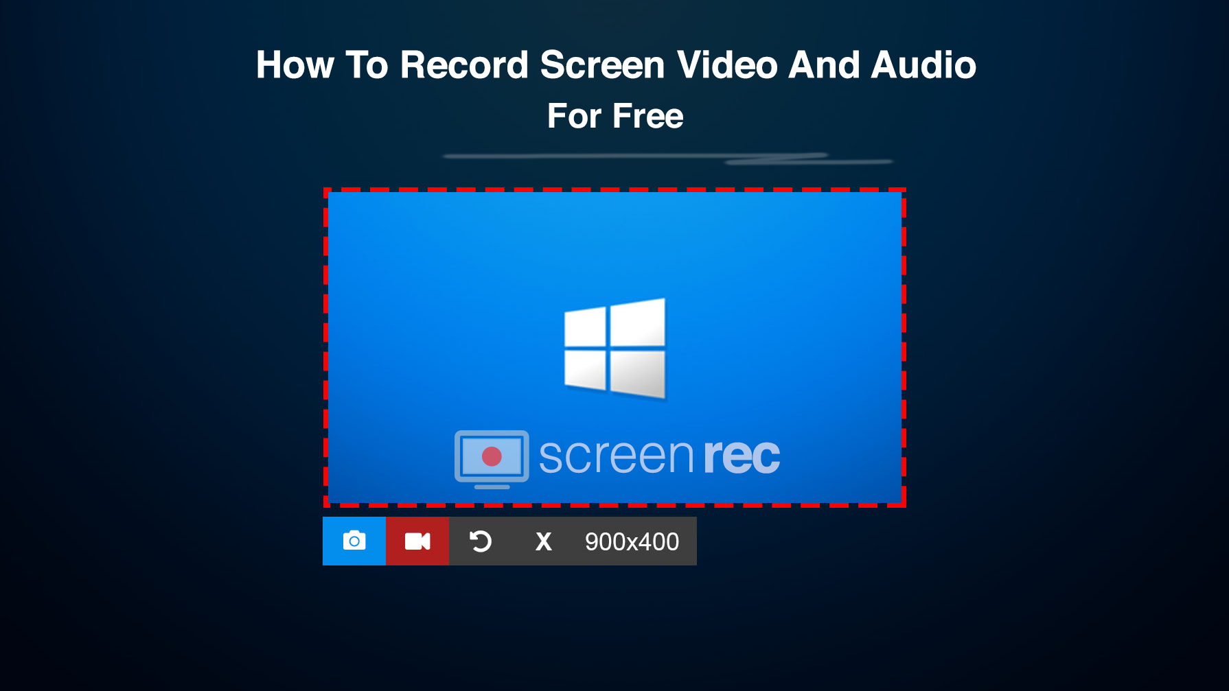 record your computer screen and audio  for free