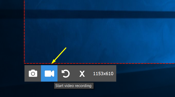 Screenrec Video Camera Button